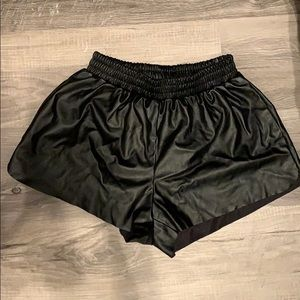 SOLD - TOBI small leather looking shorts